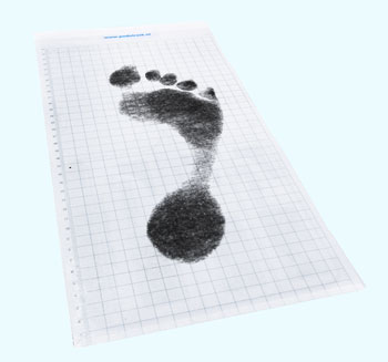 carbon print for custom insoles